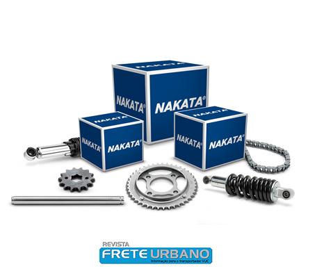 Nakata lança kits de coroa, pinhão e corrente para motos