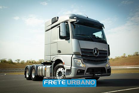 MB Novo Actros facilita o transporte na estrada