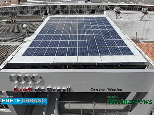 Audi instala painéis solares em seu Centro Técnico