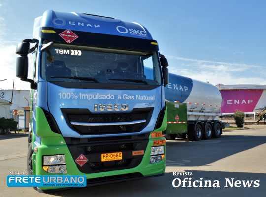 Iveco exporta primeiro caminhão movido a GNV para o Chile