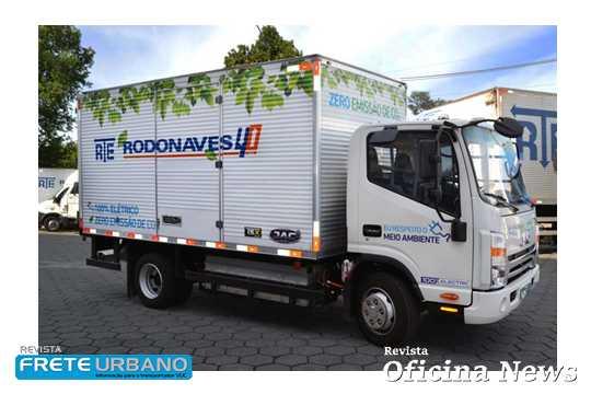 Frota da RTE Rodonaves passa a operar com caminhões 100% elétricos
